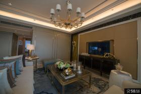现代新古典风格室内客厅电视背景墙图片