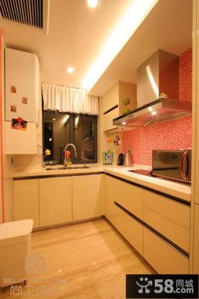 简约风格厨房装修整体橱柜效果图