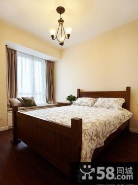 美式小户型卧室飘窗设计
