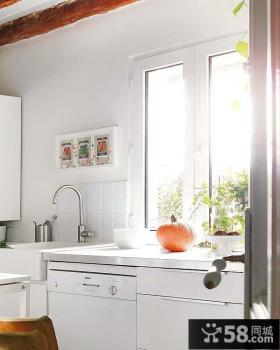 17万打造130平米现代田园风格厨房装修图片