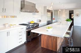 180平白色洁净的复式楼厨房装修效果图大全2014图片