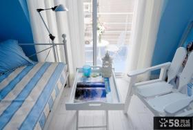 地中海风格卧室阳台家具布置