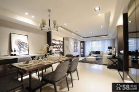 后现代风格室内餐厅装饰效果图