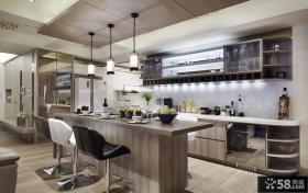 现代时尚家居吧台设计装饰效果图