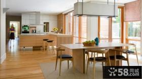 美式简约实木厨房装修效果图