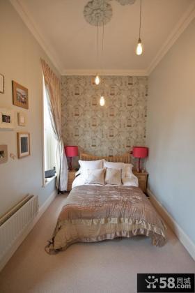 简约风格小卧室壁纸装修效果图
