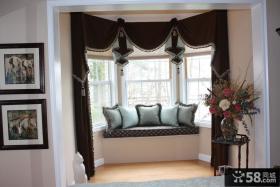 阳台飘窗窗帘装修效果图