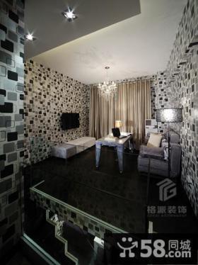 现代室内马赛克客厅电视背景墙装修图片