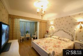 简欧式风格二居室卧室装修效果图