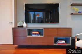 简单客厅电视背景墙
