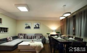 现代风格三室一厅客厅装修效果图