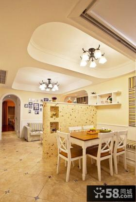 地中海简约风格餐厅效果图片
