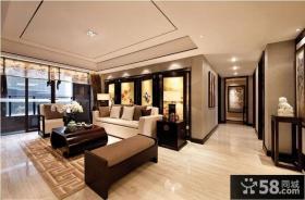 现代中式别墅客厅设计效果图