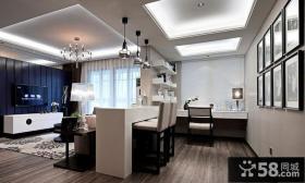 现代设计小户型餐厅装饰效果图片