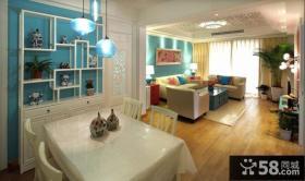 新中式风格家装餐厅博古架效果图