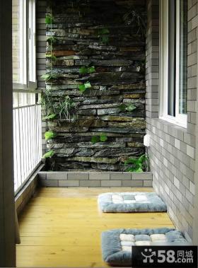 休闲小阳台设计效果图