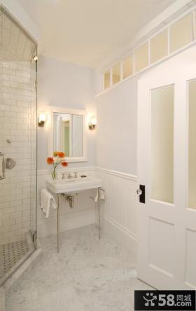 90平米家庭卫生间装修效果图