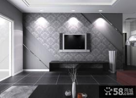 2013年现代电视背景墙壁纸图片