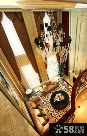 别墅客厅吊顶装修效果图大全2013图