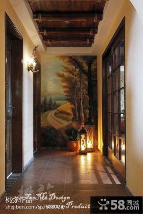 玄关背景墙装修效果图欣赏