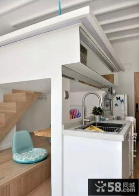 朴素北欧风格厨房隔断设计