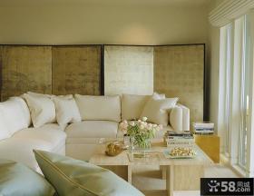 简约风格客厅家居屏风装修效果图