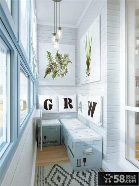 北欧风格温馨阳台设计图大全