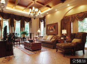 别墅样板房设计客厅效果图