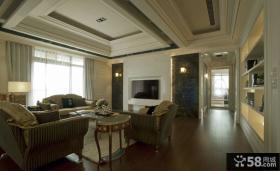 现代欧式家装客厅吊顶效果图