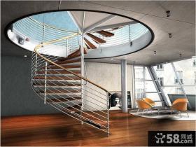 别墅顶层旋转楼梯设计图