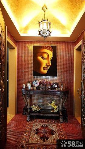 东南亚风格玄关装饰画效果图