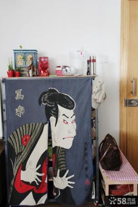 特色图案门厅玄关柜装修效果图