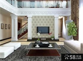 现代别墅客厅电视背景墙装修 客厅电视背景墙图片