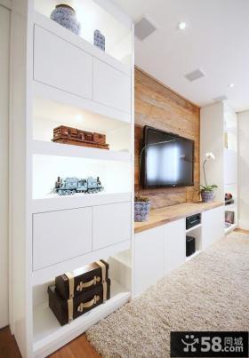 简约装修设计客厅电视背景墙图