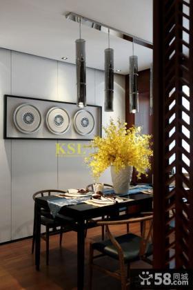 现代中式风格餐厅装修图片大全2014