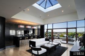 现代家居设计客厅吊顶