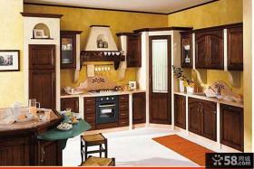 美式乡村风格大厨房图片欣赏
