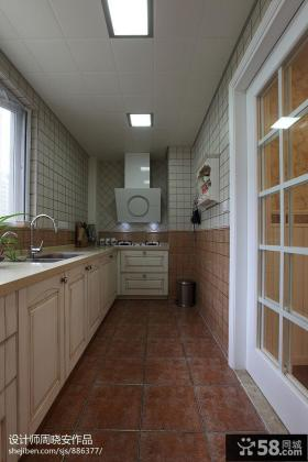 美式厨房集成吊顶效果图欣赏