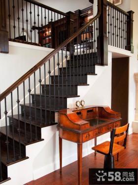 别墅楼梯铁艺栏杆图片