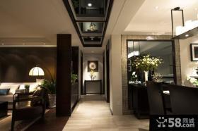 客厅与餐厅过道吊顶效果图