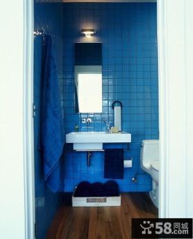 地中海风格蓝色瓷砖装饰效果图