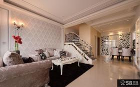 新古典三层别墅室内装修效果图大全