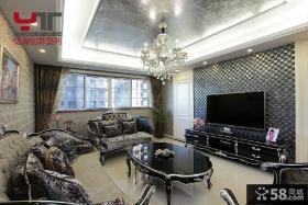 2013新古典客厅电视背景墙效果图