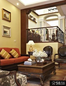 别墅挑高客厅装修效果图大全2013图片