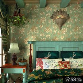 地中海卧室复古碎花壁纸