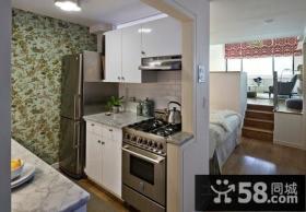 纽约50平米开放型公寓小厨房装修效果图大全2012图片