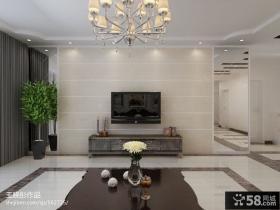 欧式新古典风格客厅瓷砖电视背景墙装修效果图