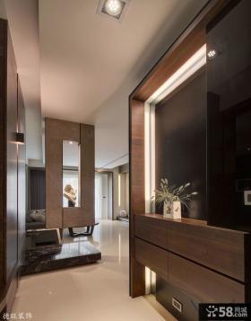 现代风格进门玄关柜装修效果图