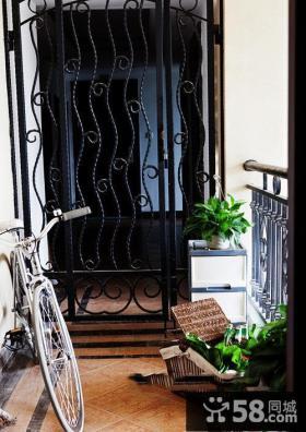 美式风格室内装饰设计阳台图片
