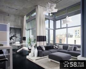 70㎡小户型现代风格素雅的客厅飘窗装修效果图大全2014图片